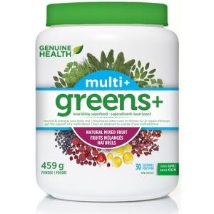 Genuine Health - Greens+ Multi+ 459g (멀티비타민/섞인과일맛)