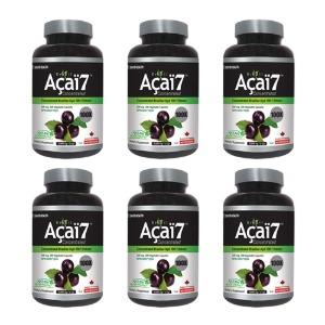 (뉴트리돔) 브라질 아사이베리 7, 100 배 ★6병 할인세트 200mg 200 식물성 캡슐 - Nutridom