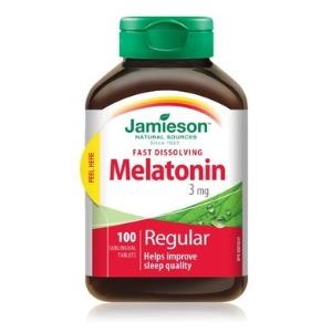 (자미에슨) 수면장애 멜라토닌 3mg 100정 - Jamieson