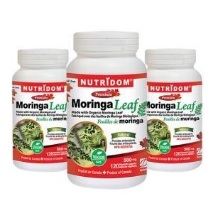 (뉴트리돔) 3병 모링가 리프 캡슐 모링가 잎 Nutridom Moringa Leaf 500mg 120정