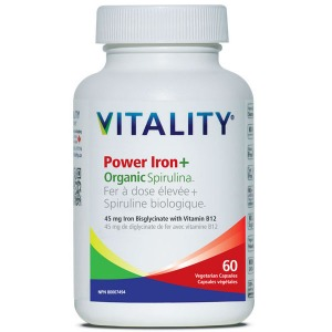 아연 철분 + 스피루리나 60캡슐 [내츄럴 바이탈리티] - 뛰어난 철분 흡수력과 에너지 증진! 비타민 B12 + C 함유