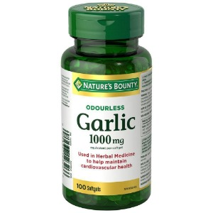 네이쳐스바운티 냄새안나는 갈릭 1000mg 100정 심장, 콜레스테롤 지원