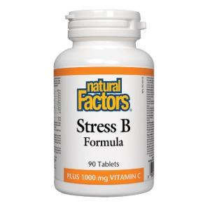 (내추럴팩터스) 스트레스 B 포뮬러 1000mg 90정 - Stress B Formula