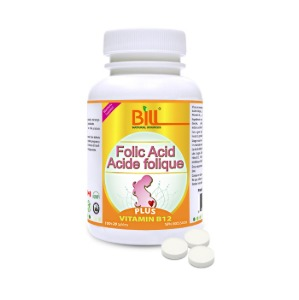 (Bill) 엽산 비타민B12 120정 - Folic Acid Plus Vitamin B12