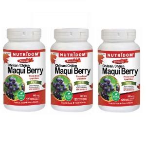 (뉴트리돔) 마키베리 마퀴베리 Maqui Berry 500mg 120정 3병