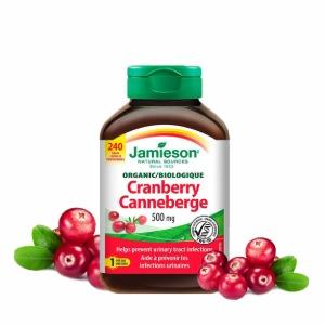 [자미에슨]유기농 크랜베리 500mg/240캡슐 - 건강 유지 항산화제, 요로감염 예방!