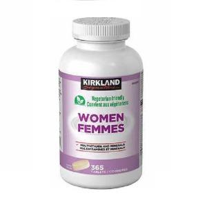 (커클랜드) 여성용 종합비타민 & 미네랄 365정 하루1알 1년치 평생 가족 종합영양제