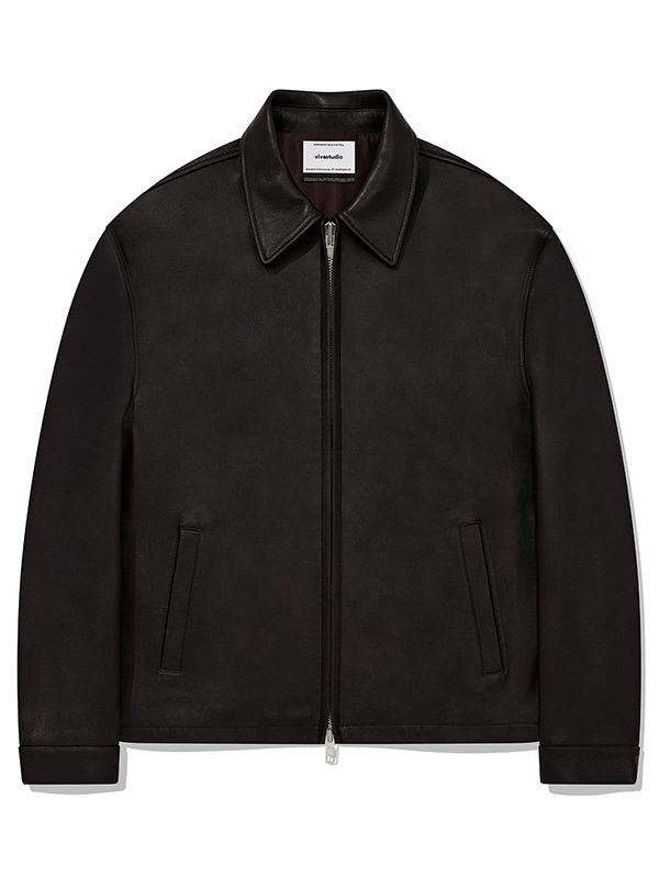 NEW OVER FIT SINGLE RIDERS JACKET KA [BROWN]