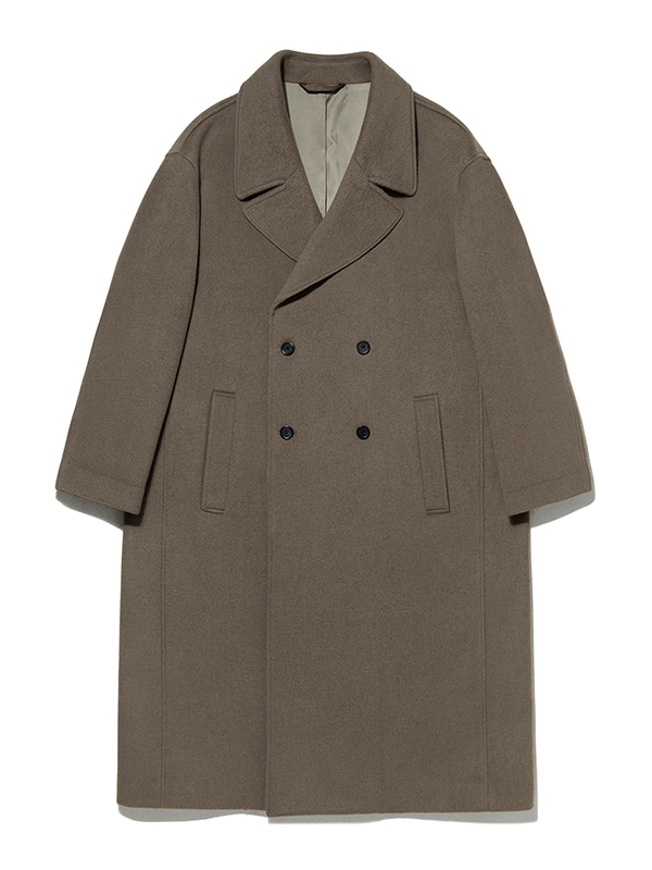 OVERFIT DOUBLE BREASTED COAT KA [LIGHT BROWN]