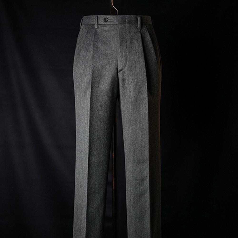 B&TAILOR RTW CAVALRY TWILL Trousers - grey
