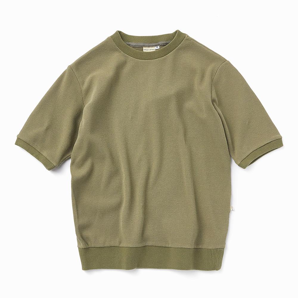 Chadprom waffle 1/2 T-shirt- Olive