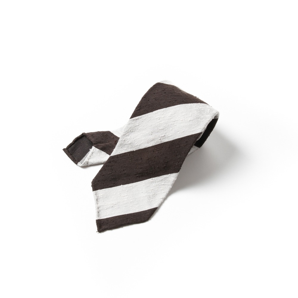 B&TAILOR Unlining 3Fold Ties-06 brown