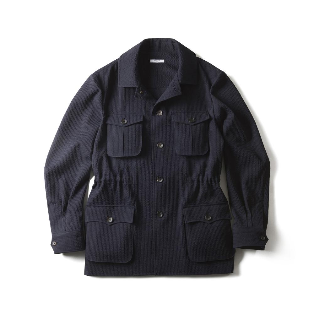 B&TAILOR RTW Wool Seersucker Safari Jacket