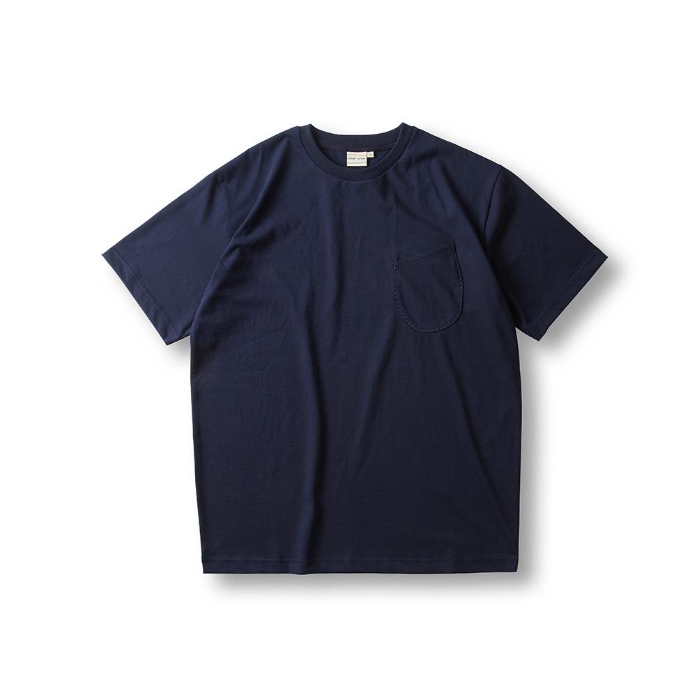 Cool Cotton Wineglass Pocket T - Shirts - Navy