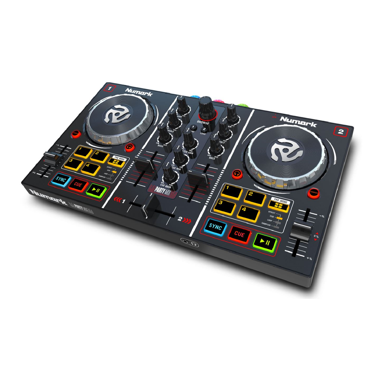 DJ Controller with Built in Light Show PARTYMIX numark