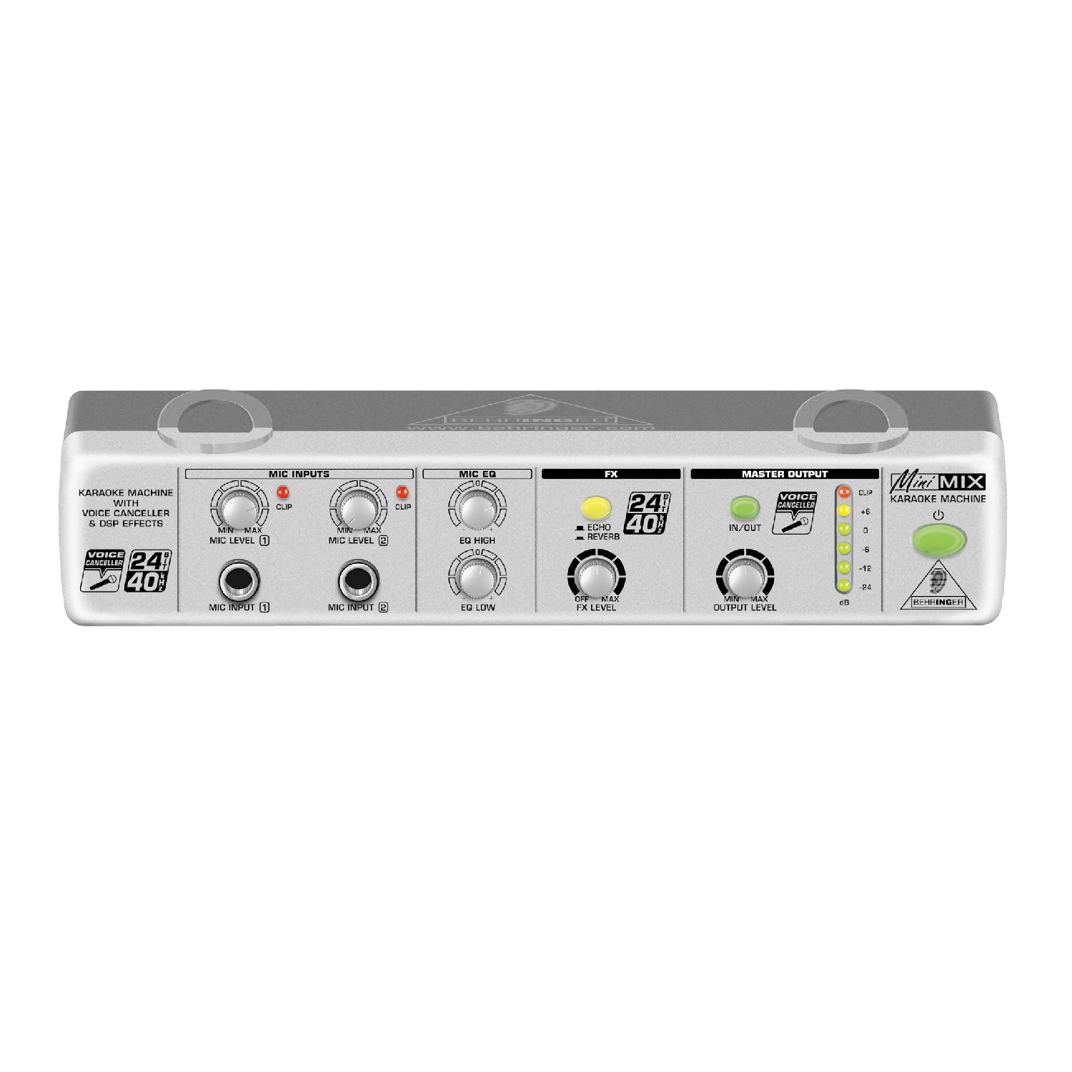 Ultra-Compact Karaoke Processor with Voice Canceller and Echo/Reverb Effects   MIX 800 behringer