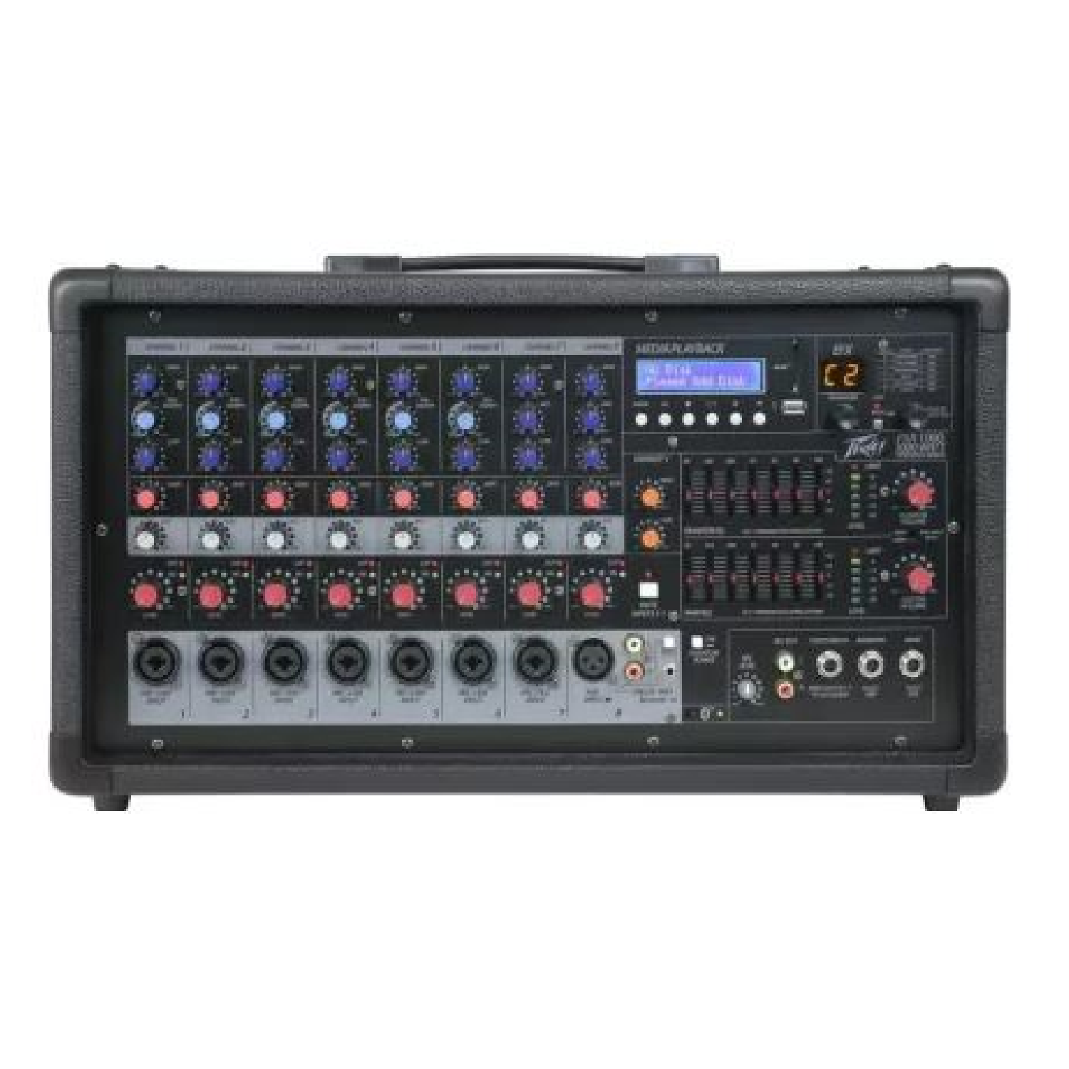Powered Mixer 8 Channels with 500W per Channel   PXR1000 peavey