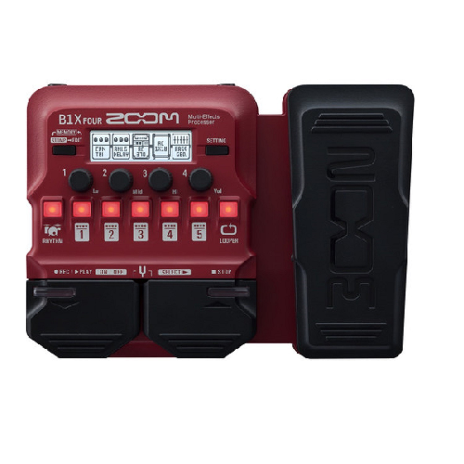 Bass Multi-Effects Pedal with Expression Pedal, Zoom B1X Four