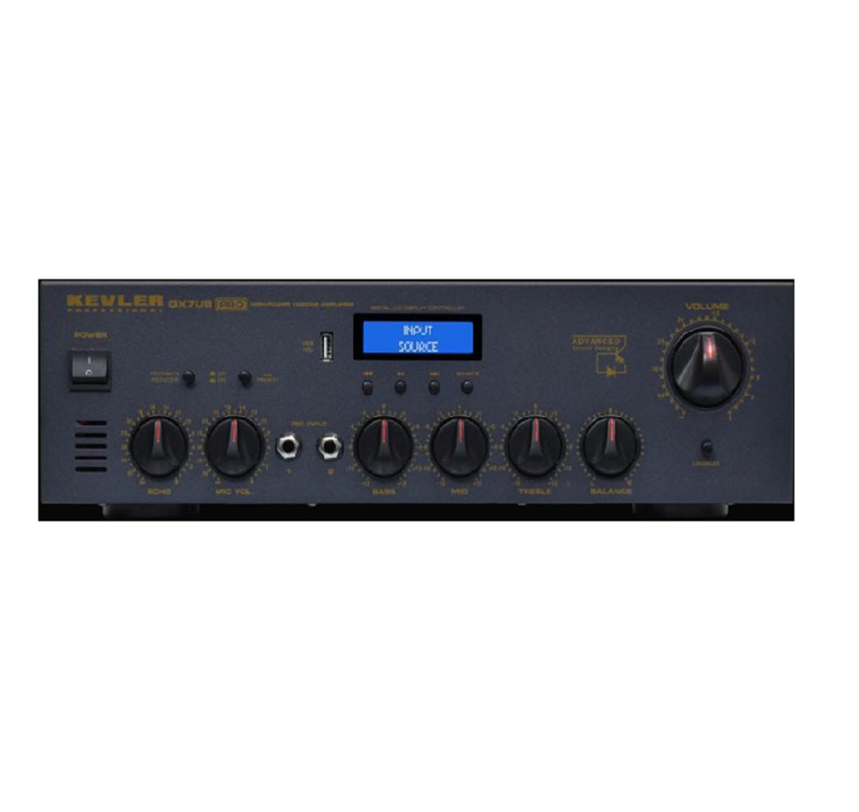 Integrated Amplifier / 800w x 2 / USB / FM & Bluetooth / 2 Mic Inputs, Kevler GX7UB PRO