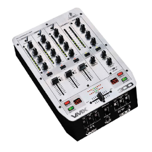 DJ MIXER 3 Channel with Beatcounter, 3 Kill Switch EQ, VCA Controlled Ultraglade Fader VMX 300 behringer