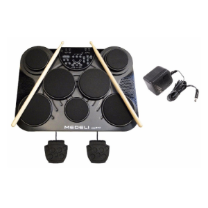 Table Top Portable Electronic Drum Kit USB Port, MIDI In and Out Ports, AUX IN   DD315 medeli