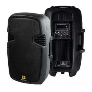 15 Inches 2 Way Full Range Active Speaker 500W Class D Amp with USB and Bluetooth (Sold By Pair)   Eon 15D kevler