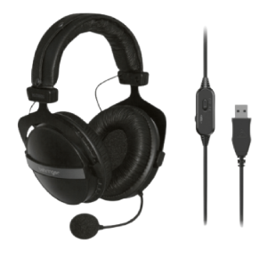 USB Stereo Headphones with Built-In Microphone   HLC660U behringer