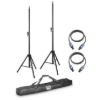 2 x Speaker Stand with Transport Bag + 2 x Speaker Cable 5 Meter for DAVE 8 Systems   LD DAVE 8 SET2 ld system
