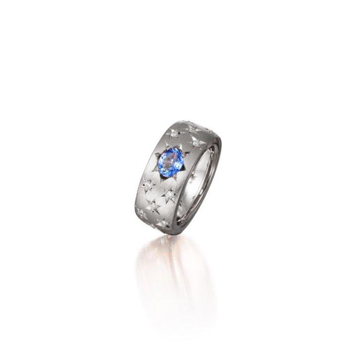 REFLECTION STAR BLUE SAPPHIRE RING (1.05 carat)