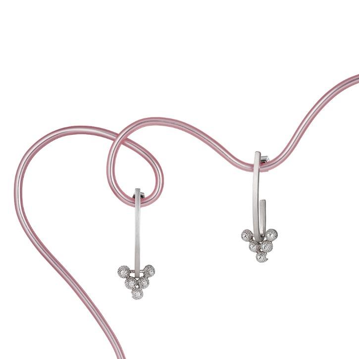 CACTUS GARDEN linear hoop earring