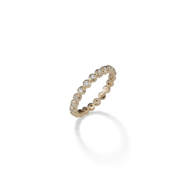 COLLET DIAMOND RING, small