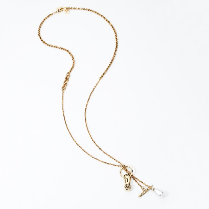 Grab Your Eye Pendant Long Chain Necklace