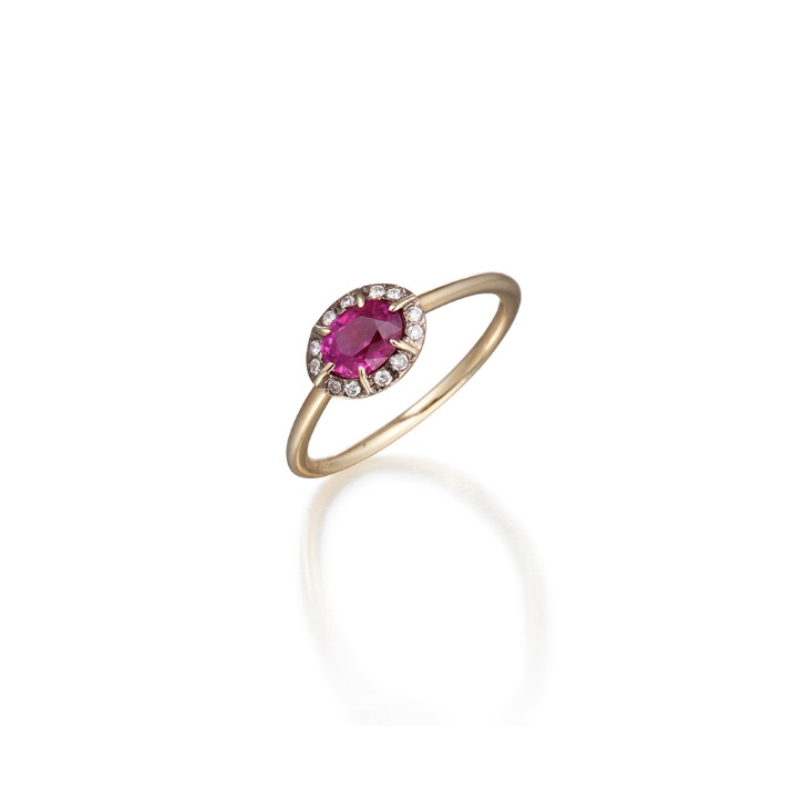 COLLET SETTING RUBY RING