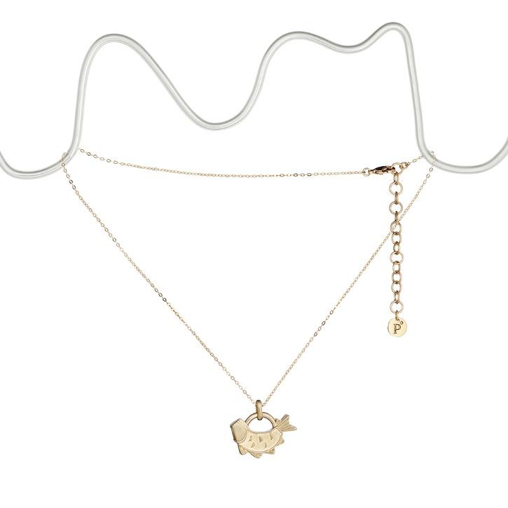 Fish Padlock Necklace