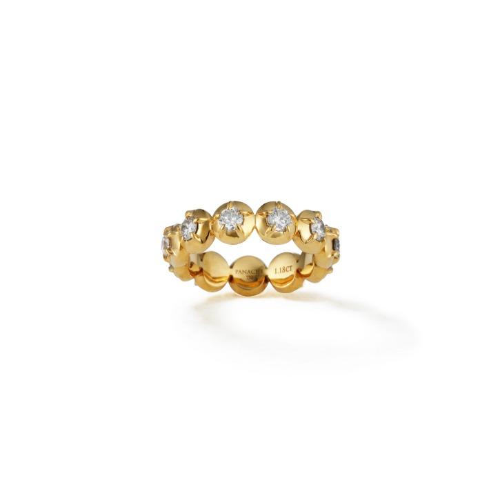 COLLET DIAMOND RING, large