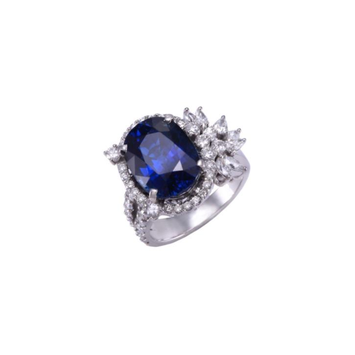 TULIP BLUE SAPPHIRE RING