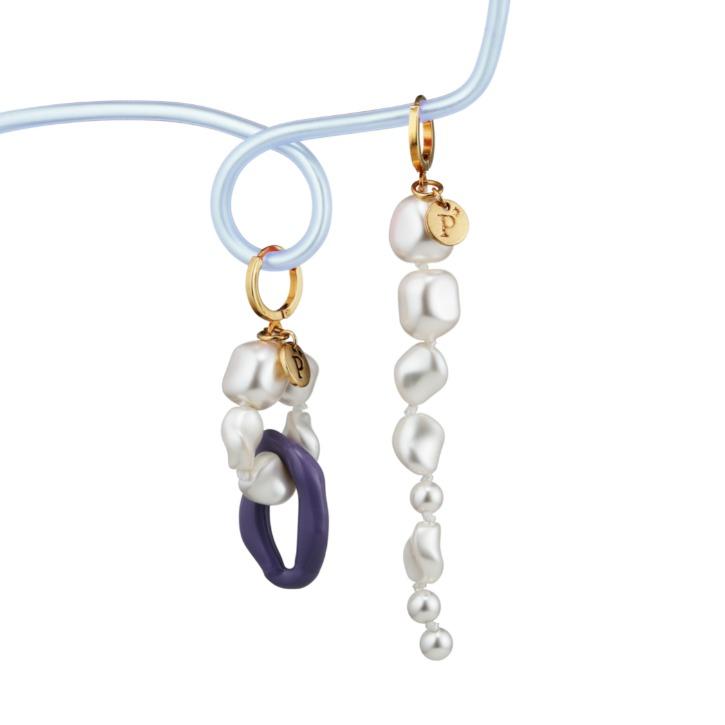 Seascape Drop Pearl Earring
