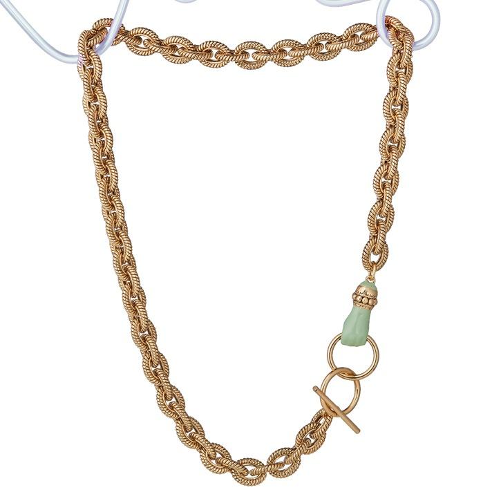 GRAB YOUR EYE Hand Clasp Necklace Sage