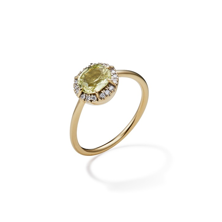 COLLET YELLOW SAPPHIRE RING