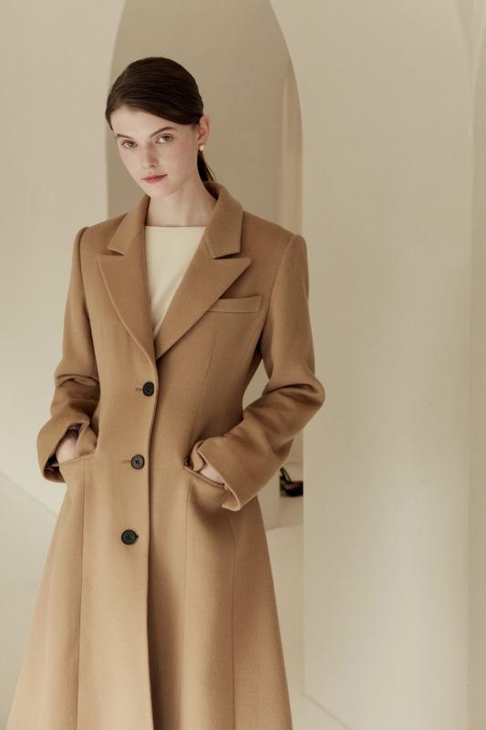 TANIA Classic A-line coat (Light camel)