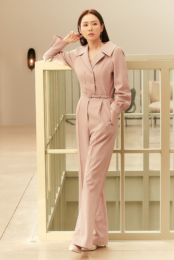 HEATHER Double breasted jumpsuit (Spring lilac)