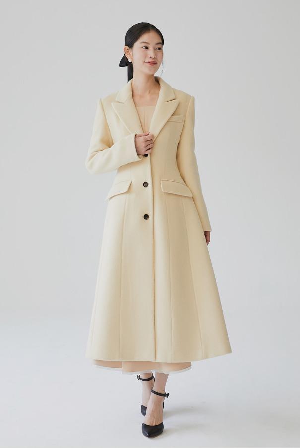 [11/9 예약배송]TANIA Classic A-line coat (Butter)
