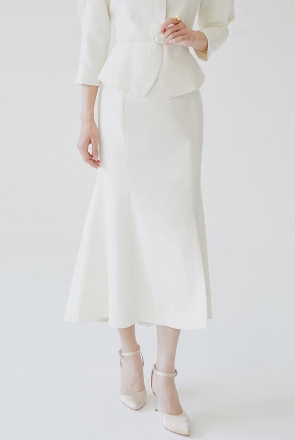 [10/29 예약배송]ODELIE Semi mermaid skirt (Ivory)