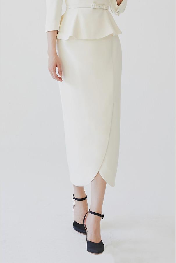 [11/4 예약배송]OLGA Tulip skirt (Ivory)