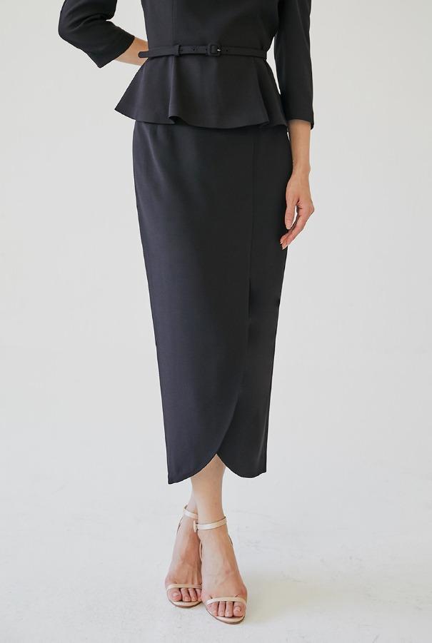 [11/4 예약배송]OLGA Tulip skirt (Black)
