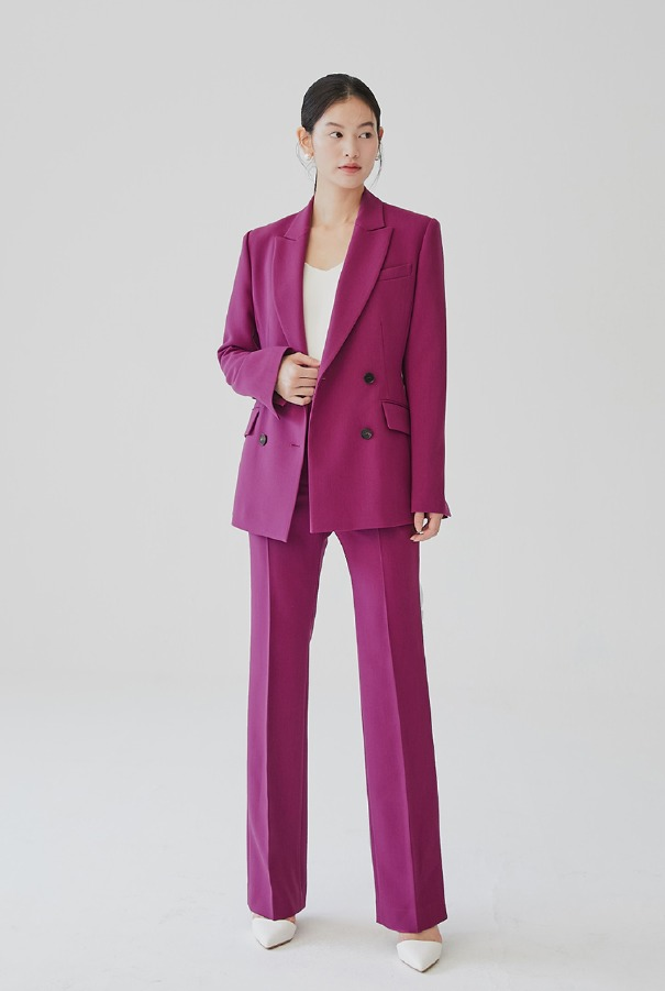 YVONNE Straight-fit trousers (Magenta Purple)