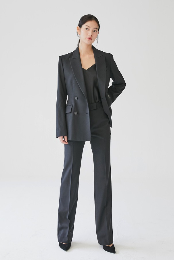 YVONNE Straight-fit trousers (Black)