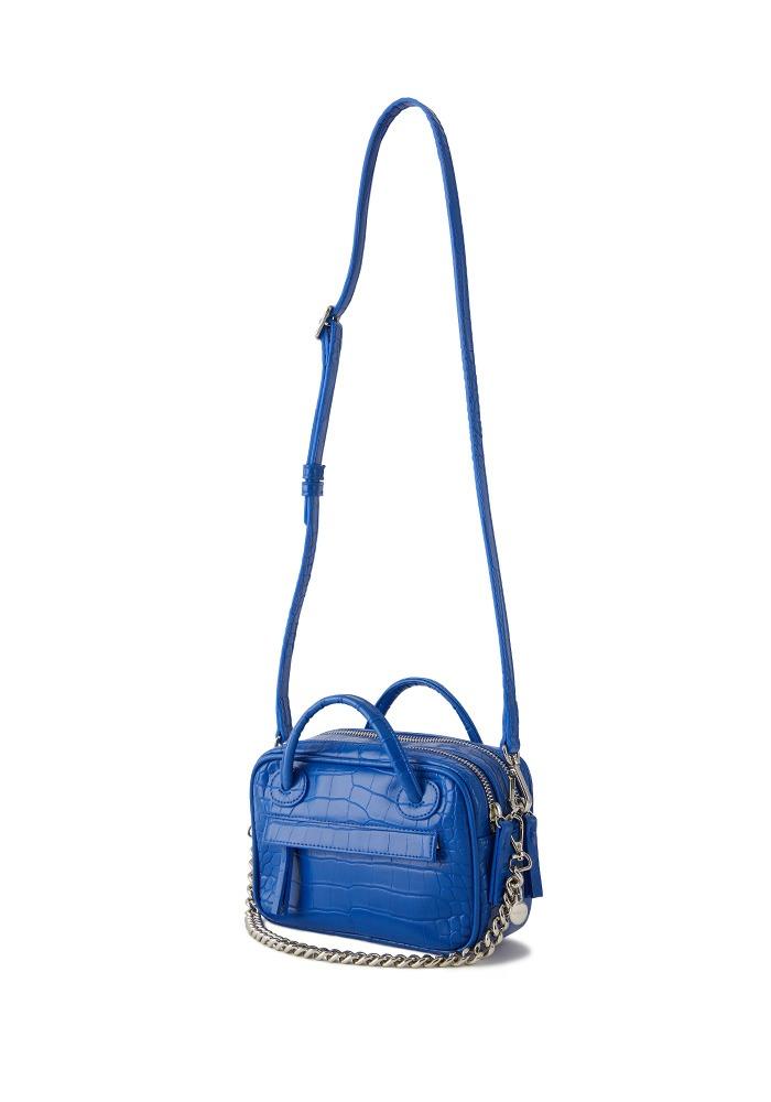 TWO ZIPPER BAG LUNCH BOX (BLUE POP)