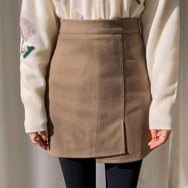 Polar Fleece Wrap Skort (20% wool)