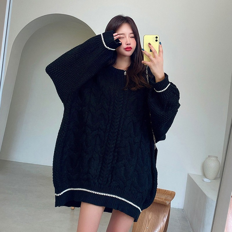 Time To Oversize Twist Knit Sweater_CJKL20T001